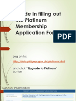 Platinum Membership Guide