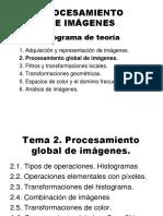 PROCESAMIENTO DE IMÁGENES  Programa de teoría