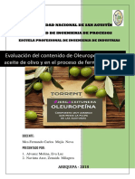 Evaluación Del Contenido de Oleuropeína
