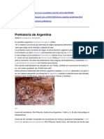 Prehistoria Argentina