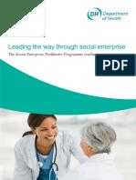 2009-Leading the Way Through Social Enterprise- The Social Enterprise Pathfinder Programme Evaluation