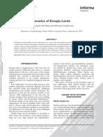 Genetics of Ectopia Lentis.sadiq.2013