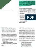 Diptico de Asimetría de la infomación