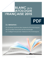Livre Blanc Rhumatologie 2015