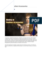 History of Fashion Accessories