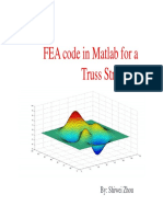 FEA Code in Matlab for a Truss StructureA (1)