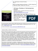 Critique Studies in Contemporary Fiction Volume 49 Issue 1 2007 [Doi 10.3200%2FCRIT.49.1.2-24] Hantke, Steffen -- Postmodernism and Genre Fiction as Deferred Action- Haruki Murakami and the Noir Tradi