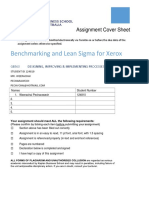 Benchmarking and Lean Sigma for Xerox company