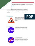 I Segnali Per La Bicicletta