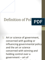 Definition of Politics