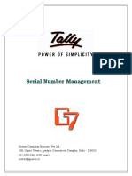 User Manual With FAQs-Serial Number Management