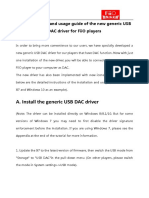 Installation and Usage Guide of the New Generic USB DAC Driver for FiiO Players