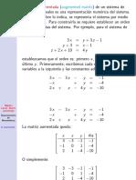Algebra Lineal Matriz Aumentada