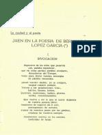 Jaén en la poesia de Bernardo López García