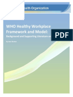 World Health Organization- Healthy Workplace Framework and Model