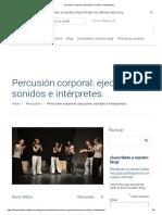 Percusión Corporal_ Ejecución, Sonidos e Intérpretes