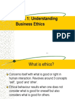 KLN WK 1 - Understanding Business Ethics
