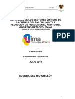 Informe 57 Monitoreo de Sectores Criticos ChillOn MML Julio 2013