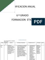 Planificacion Anual de Etica 6 Grado