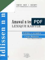 Lexique Kabyle Du Corps Humain