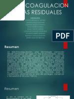Electrocoagulacion de Aguas Residuales