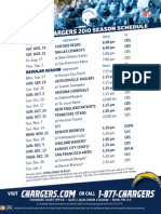Chargers 2010 Schedule