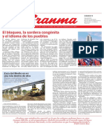 Diario Granma. 9 de junio de 2018.