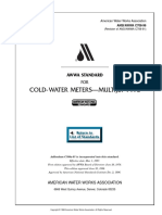 C708-96 (Cold Water Meters - Multijet Type)