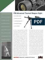x26 Thermal Rifle Scope Datasheet
