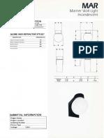 Sylvania MAR Mariner Incandescent Wall Light Spec Sheet 1-87