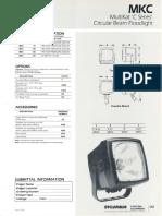 Sylvania MKC MultiKat 'C Series' Circular Beam Floodlight Spec Sheet 3-88
