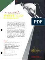 Sylvania PSH-110 Floodlight Spec Sheet 5-65