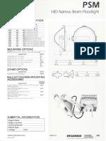 Sylvania PSM HID Floodlight Spec Sheet 1-87