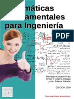 Matemáticas Fundamentales Para Ingeniería - Acevedo Frías