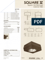 Sylvania S5 Square V Architectural Square HID Area Light Spec Sheet 5-80