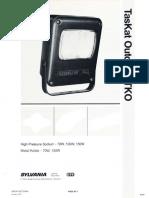 Sylvania TKO TasKat Outdoor HID Floodlight Spec Sheet 1-87