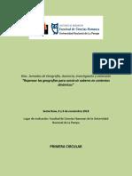 6tas Jornadas de Geografía, Docencia, Investigación y Extensión