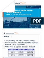 Introduction to Governance, Politics & Policy, Week 1