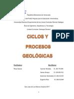 Ciclos y Procesos Geológicos