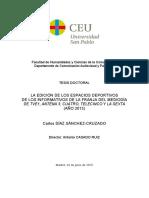 Díaz Sánchez-Cruzado, C. (2015) La Edición de los Espacios Deportivos de los Informativos de la Franja del Mediodía de TVE1, ANTENA 3, CUATRO, TELECINCO Y LA SEXTA.pdf