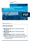 Introduction to Governance, Politics & Policy, Week 2