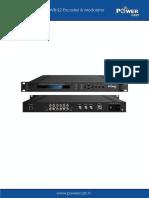 PCEMOD-S2 DVB-S2 Encoder Modulator User Manual
