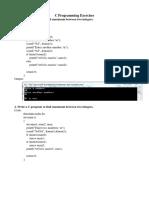 C Programming Exercises