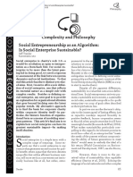 Social Entrepreneurship as an Algorithm