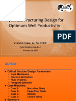 hydraulic fracturing design for optimum well