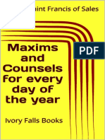 Maxims and Counsels for Every Day of the Year - Saint Francis of Sales