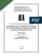 _ Proyecto _ Calidad Ps Las Trancas Ver 0.2