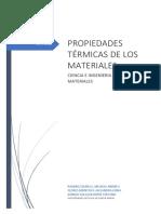 propiedades termicas