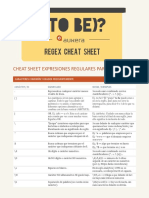 Cheat Sheet Expresiones Regulares