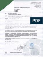 CIRCULAR N-¬ 008 REMISION DE ACTA DE REUNION CONSEJO DE COORDINACION SECTORIAL